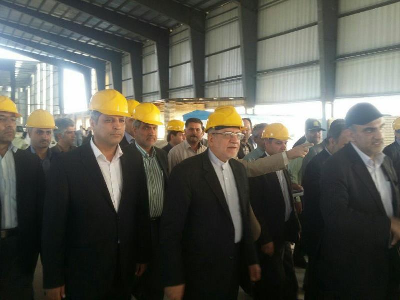 بازدید وزیر صنعت از شرکت شیشه فلوت کاویان